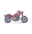 cool biker motorcycle vector image