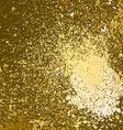 gold paint splash splatter and blob on golden vector image
