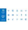 15 server icons vector image vector image
