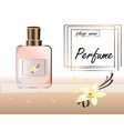 a realistic style perfume vector image vector image