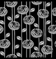 abstract floral seamless pattern with roses vector image
