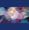 abstract irregular polygonal background variegated vector image vector image