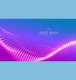 abstract violet particle wave points array vector image vector image