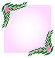 An empty template with pink floral border vector image vector image