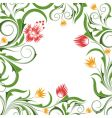 background with flowers and branches vector image vector image
