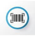 barcode icon symbol premium quality isolated vector image