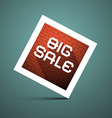 Big Sale Title on Blue Background vector image vector image