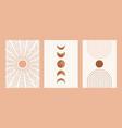 boho sun moon arch set minimalist mid century vector image vector image