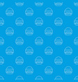 burger pattern seamless blue vector image