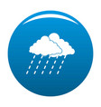 cloud rain storm icon blue vector image