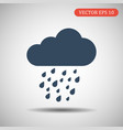 cloud with rain icon eps 10 vector image vector image