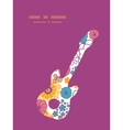 colorful oriental flowers guitar music vector image vector image