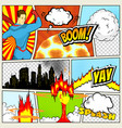 comics template retro comic book speech vector image vector image