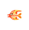 cute funny colorful fish hand drawn vector image vector image
