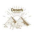 desert animals hand drawing cartoon vector image