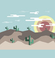 desert landscape at morning flat design vector image