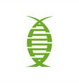 dna organic modern logo vector image