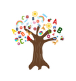 Education concept tree vector image