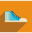 Flat icon with long shadow casual gumshoes vector image vector image