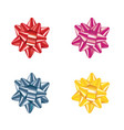 four bows set vector image vector image