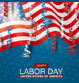 happy labor day with usa flag vector image vector image