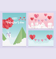 happy valentines day origami gift hearts balloons vector image