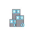 income levels thin line stroke icon income vector image