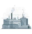 Industrial Factory Flat Style vector image vector image