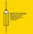 linear poster back to school graphics vector image vector image