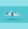 man in swimming pool swimmer in trunks summer vector image vector image