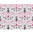 mexican folk art seamless skull pattern vector image