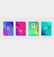 modern minimal colorful abstract background vector image
