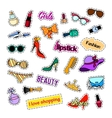 Patch badges Fashion set Stickers pins patches vector image
