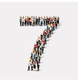 people form number seven vector image vector image