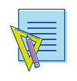 peper blog with study tools vector image vector image