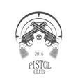 pistol club logotype vector image vector image
