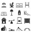 Playground black simple icons set vector image vector image