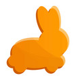 rabbit biscuit icon cartoon style vector image