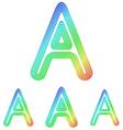 Rainbow letter a logo design set vector image vector image