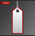 realistic discount sale tag vector image vector image