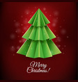 red christmas postcard vector image vector image