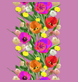 seamless watercolor floral colored border vector image vector image