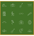 Set of 16 editable camping icons includes symbols vector image