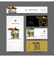 Set of business cards design street market vector image vector image