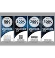 Set of modern gift voucher templates Polygonal vector image vector image