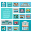 Shopping in stores icons set vector image