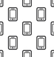 smartphone seamless pattern vector image