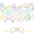Spa and recreation seamless pattern with icons in vector image