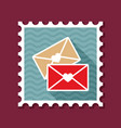 two envelope stamp love letter vector image