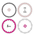 valentines day frames set cute decorative vector image vector image